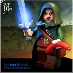 October 10 - Lorena Hobbit (Morgan190) Tags: halloween scary october advent calendar lego sting creepy lordoftherings minifig custom hobbit weiner frodo bilbobaggins bilbo 2010 m19 minifigure lorenabobbitt morgan19 thebravestlittlehobbitofthemall