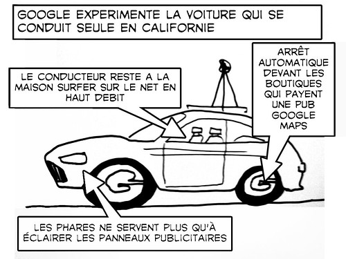 Google car: La voiture sans chauffeur: picture google car project plan by danielbroche