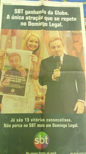 Anúncio do Domingo Legal. 15 vitórias consecutivas. 10/09/2000
