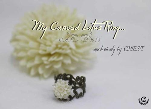 My carved lotus ring
