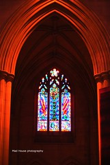 DSC_59311 (Mad House Photography) Tags: blue light red usa color building brick green church colors lines architecture lights washingtondc dc washington focus cathedral bricks gothic stainedglass looming nationalcathedral washingtonnationalcathedral