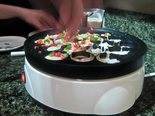 Making Takoyaki - Adding Octopus, Etc.
