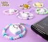Manjukun & Friends Beaded Phone Strap (TofuCute.com) Tags: cute japan japanese kawaii manju phonestrap phonecharm manjukun manjuchan syokupan daikonkun manjukunandfriends
