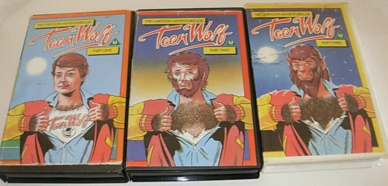 Teen Wolf cartoon UK VHS