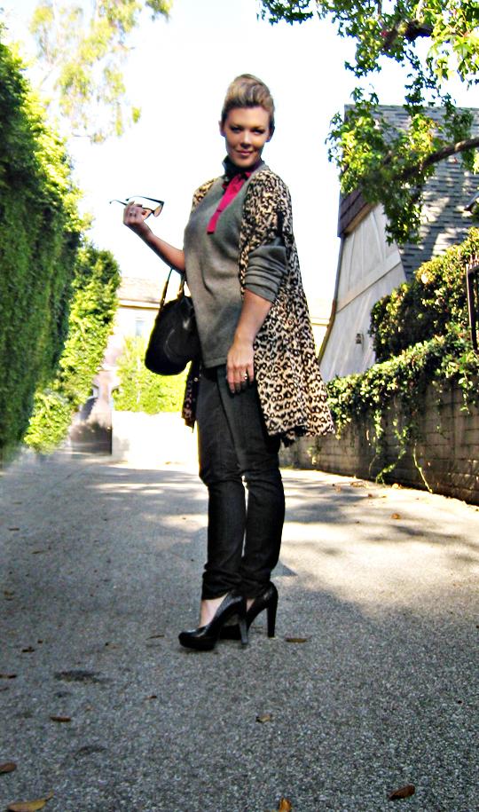 leopard print dress as a bed jacket