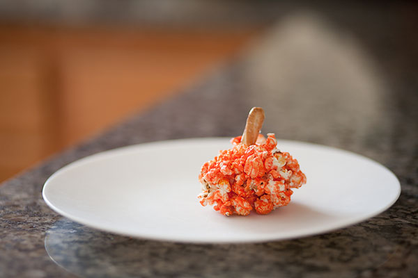 10.14.10 Pumpkin Popcornball