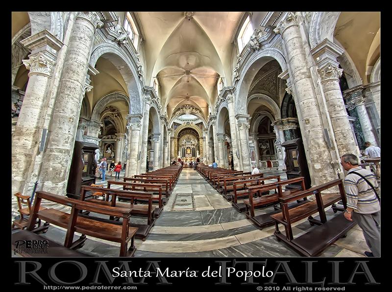 Roma - Basilica Santa Maria del Popolo - Nave principal