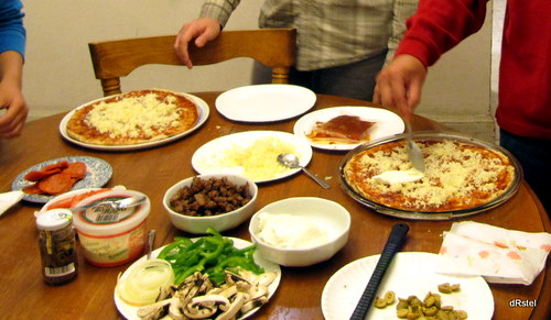 pizza toppings buffet, homestyle