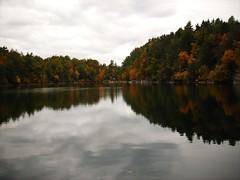 lake mohonk (omoo) Tags: autumn lake fall water clouds reflections newyorkstate mountainlake mohonk