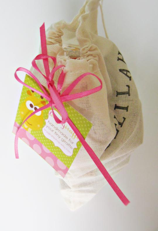 baby blocks in bag +etsy shop tiny giraffe