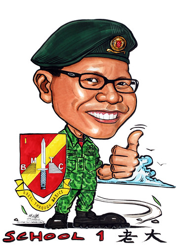 Caricature for Singapore Armed Forces (SAF)