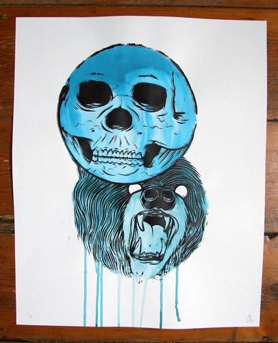 Skullbear Screenprint Ink