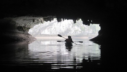 Kayaking Through Karst Tunnel