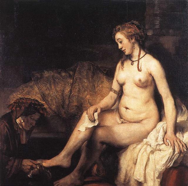 Bathsheba e seu banho - Rembrandt