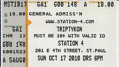 10/17/10 Triptykon /w/ 1349/Yakuza/Enshrined @ St. Paul, MN (Ticket)