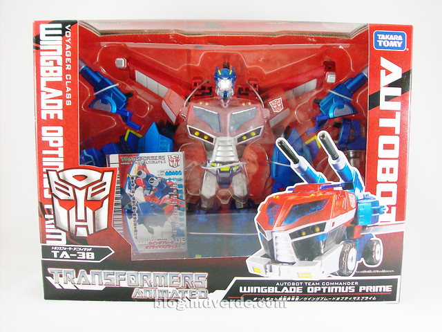 Transformers Wingblade Optimus Prime Animated Takara - caja