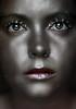 Day Three Five One (Lou Bert) Tags: portrait art girl face make up glitter self silver paint glow makeup diamond sparkle facepaint afterdark