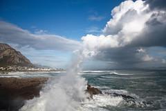 wave kissing cloud (noelboss) Tags: ocean light cloud hermanus clouds southafrica see big waves wolken strong wellen südafrika