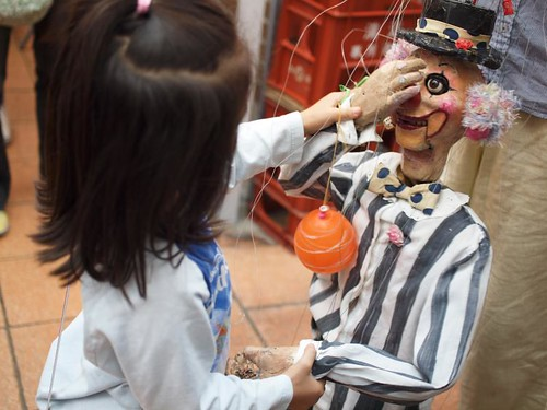 Marionette show by Takahiro@Sancha street performance festival