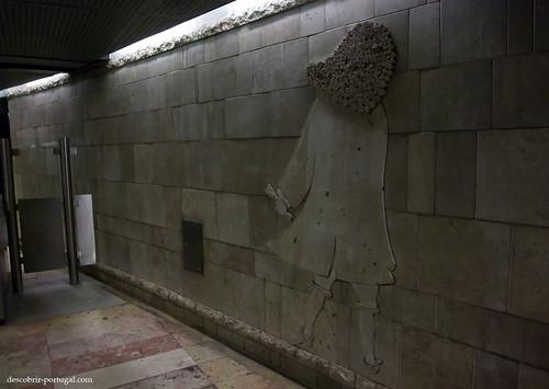 O Marquês de Pombal nas paredes do metro