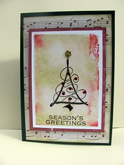 Christmas tree card -