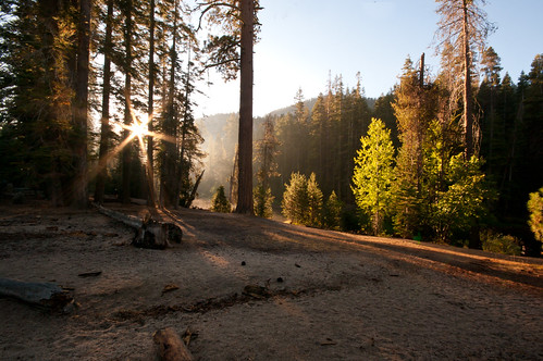 Morning Breaks over the Merced, Little Yosemite Valley