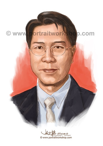 digital portrait illustration of Perng Peck Seng watermark