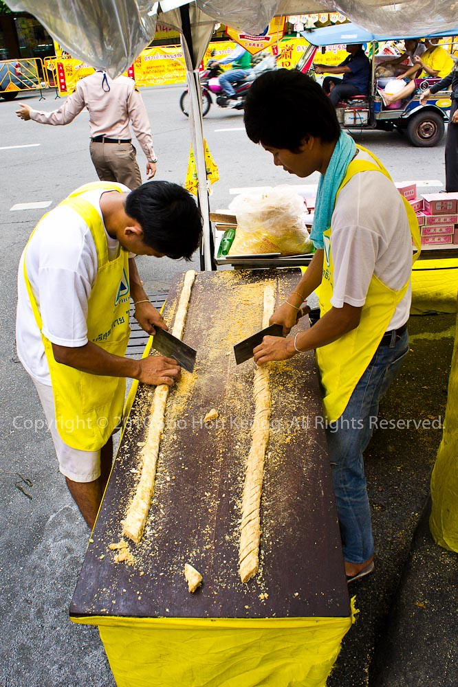 Making of Peanut Biscuit @ ChinaTown, Bangkok, Thailand