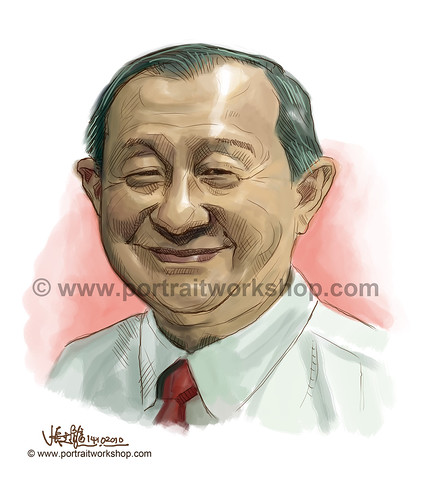 digital portrait illustration of Jeffrey Beh Eng Siew (revised) watermark