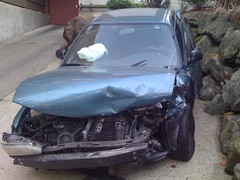 front damage