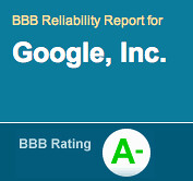Google A- on BBB