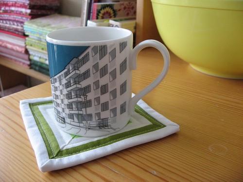 Vintage Stripe Mug Rug