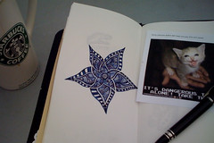 Protection Racket (Felyne on Flickr) Tags: notebook drawing starbucks travelers montblanc midori starwalker