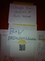 #barcamprdu schedule http://BRDU2010schedule