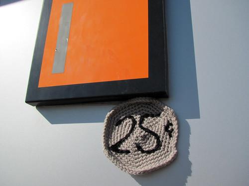 Arcade Coin Yarnbomb, Detail