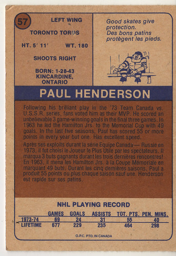 Paul Henderson back
