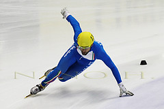 Forza Italia (Nino H) Tags: italy canada sport speed track italia quebec action montreal du short skater monde coupe piste vitesse courte patineur
