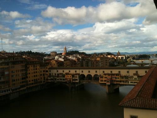 Ponte Vecchio seen from Uffizi gallery