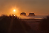 Twin Rocks – Oregon – Part One (janusz l) Tags: statepark sunset sea beach grass oregon coast path 101 coastal rays manual garibaldi hdr pathway rockaway partone twinrocks janusz nehalembay leszczynski 001405