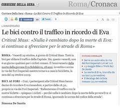 corriere-30-ott-2010 (ditrafficosimuore) Tags: roma eva foriimperiali biciclette ditrafficosimuore
