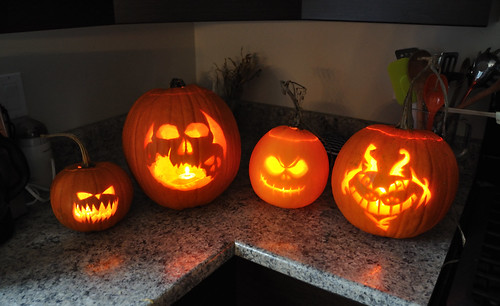 Halloween pumpkins 2010