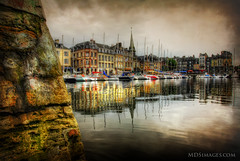 The old world harbour in Honfluer, France (MDSimages.com) Tags: travel france harbor europe textures hdr travelphotography honfluer michaelsteighner mdsimages
