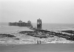 Kent coast storm damage 1978 (Tony Withers photography) Tags: storm monochrome weather pier harbour damage 1978 margate thanet isleofthanet tonywithers tonywithersphotography