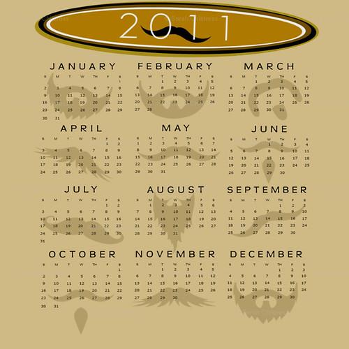 mustaches calendar