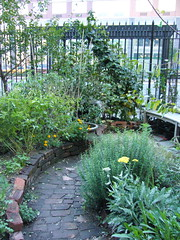 Brick path at the Liz Christy Community Garden (kt.ries) Tags: new york city nyc urban garden community gardening lizchristy