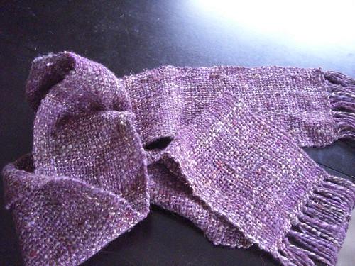 Purple Woven Christmas Scarf