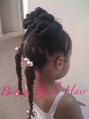 zig zag parts cute natural hair styles little black girls