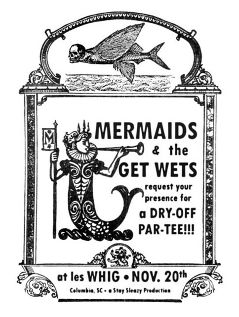 Mermaids/Get Wets Dry-Off Party at les Whig, Nov. 20th