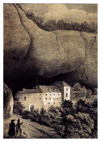 007-San Juan de la Peña 1844- Monasterio Antiguo-Recuerdos y bellezas de España Vol 1-Aragon