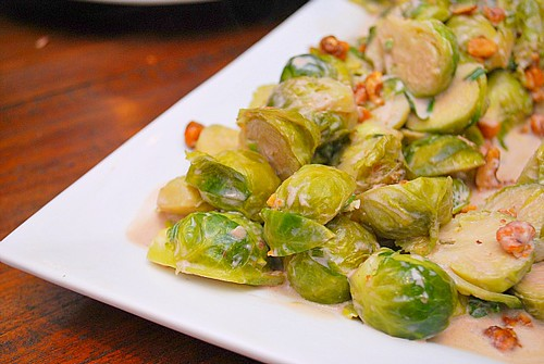 Brussel Sprouts in Chipotle Cream